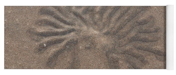 Yoga Mat featuring the photograph Invertebrate Sand Art by Eyes4Nature