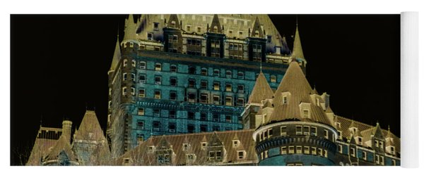 inverted Chateau Frontenac Yoga Mat
