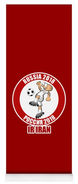 Ir Iran In The Soccer World Cup Russia 2018 Yoga Mat