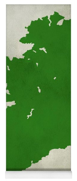 Ireland Grunge Map Yoga Mat