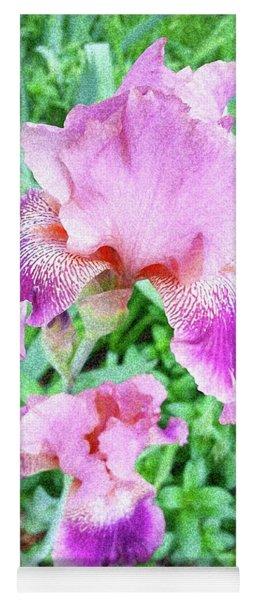 Iris Flower Photograph I Yoga Mat