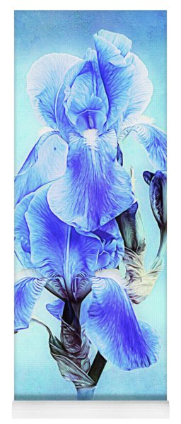 Iris Pair In Blue Yoga Mat