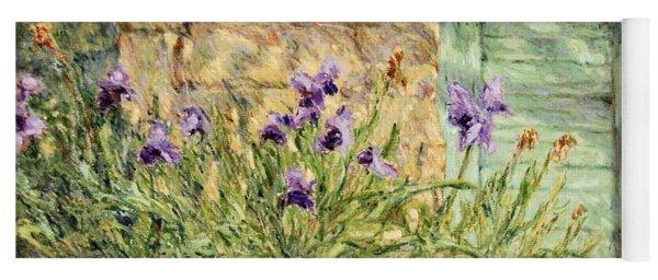 Irises At The Old Barn Yoga Mat