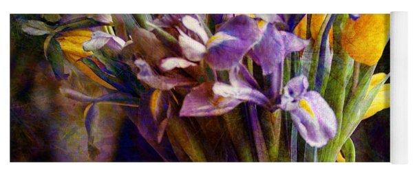 Irises In A Glass Yoga Mat