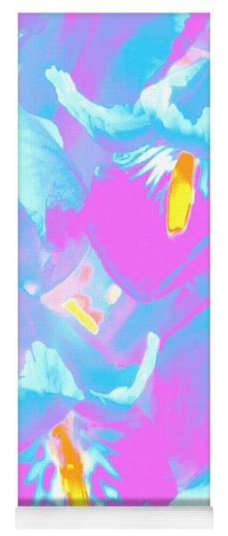 Irises In The Style Of Pop Art Yoga Mat