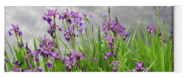 Irises On The Water Yoga Mat