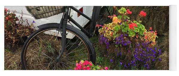 Irish Bike And Flowers Yoga Mat