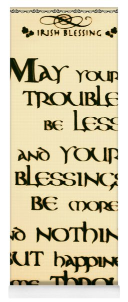 Irish Blessing Yoga Mat