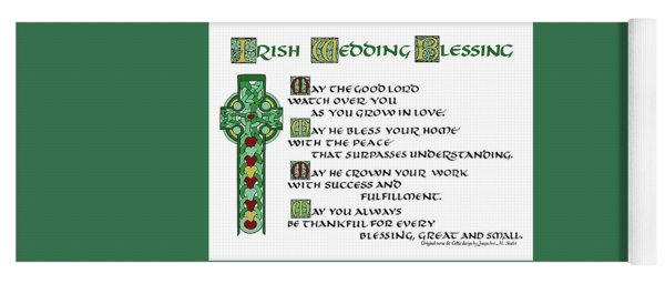 Irish Celtic Wedding Blessing Yoga Mat