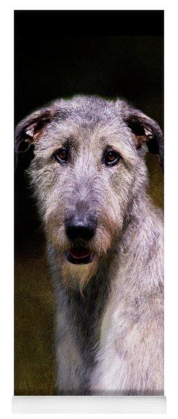 Irish Wolfhound Portrait Yoga Mat