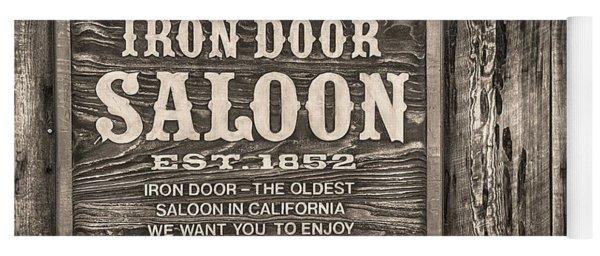 Iron Door Saloon 1852 Yoga Mat