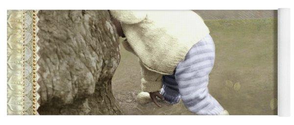 Is Bunny Behind Tree? Yoga Mat