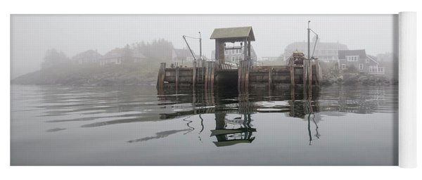 Island Boat Dock Yoga Mat