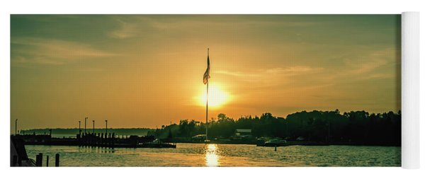 Island Harbor At Sunset Yoga Mat