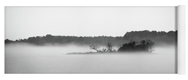Yoga Mat featuring the photograph Island In The Fog by Todd Aaron