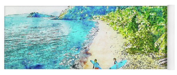 Island Surfers Yoga Mat