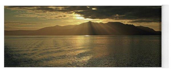 Isle Of Arran At Sunset Yoga Mat