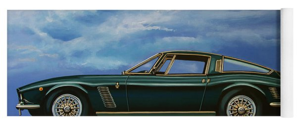 Iso Grifo Gl 1963 Painting Yoga Mat