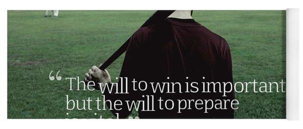 Ispirational Sports Quotes  Joe Paterno Yoga Mat