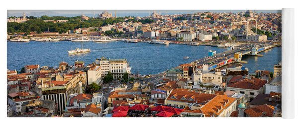 Istanbul Cityscape Yoga Mat