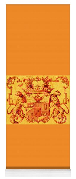 Italian Nobility 18th Century Coat Of Arms With Leopards And Double Headed Eagles Yoga Mat