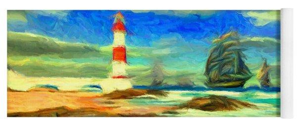 Itapua Lighthouse 1 Yoga Mat