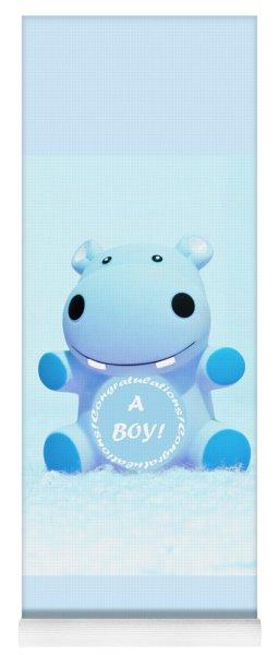 It's A Boy Hippo Yoga Mat