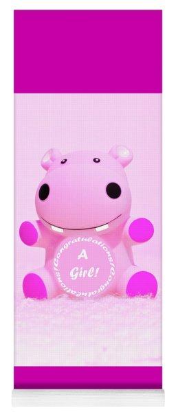 It's A Girl Hippo Yoga Mat
