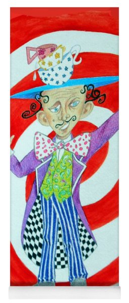 It's A Mad, Mad, Mad, Mad Tea Party -- Humorous Mad Hatter Portrait Yoga Mat