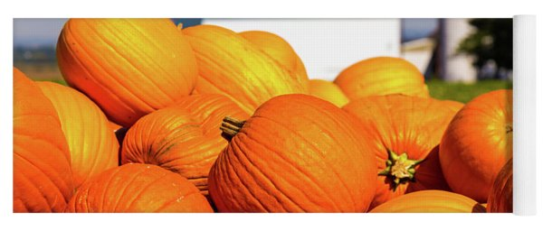 Jack-o-lantern Pumpkins At Farm Yoga Mat