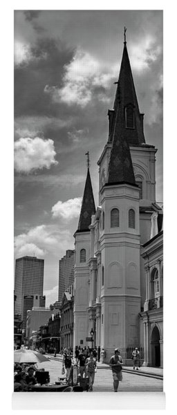 Jackson Square In Black And White Yoga Mat