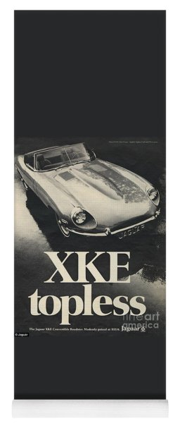Jaguar Automobile Xke Topless Advert Yoga Mat