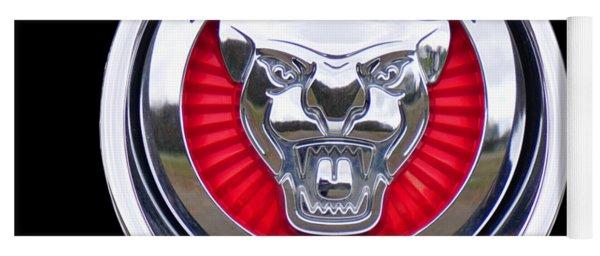 Yoga Mat featuring the photograph Jaguar Emblem by Ericamaxine Price