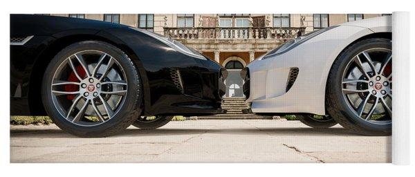 Jaguar F-type - Black And White Yoga Mat