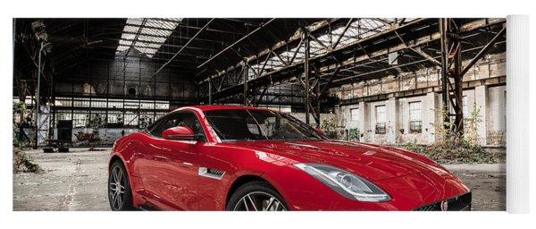 Jaguar F-type - Red - Front View Yoga Mat