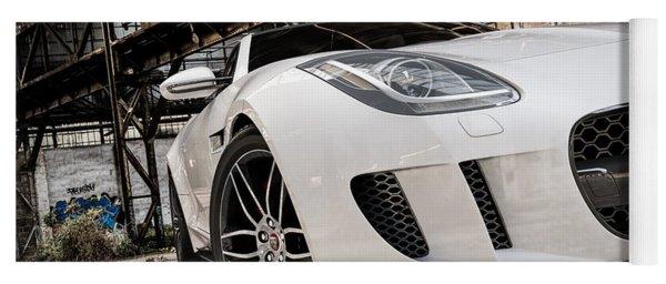 Jaguar F-type - White - Front Close-up Yoga Mat