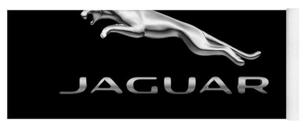 Yoga Mat featuring the photograph Jaguar Logo by Ericamaxine Price
