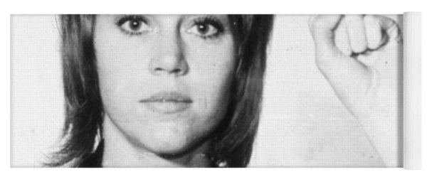 Jane Fonda Mug Shot Vertical Yoga Mat