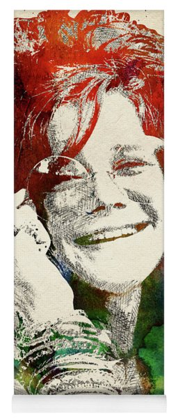 Janis Joplin Portrait Yoga Mat