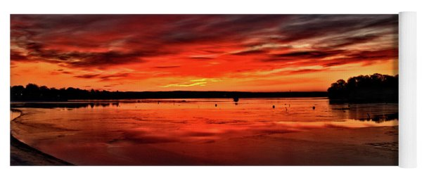 January Sunrise Onset Pier Yoga Mat