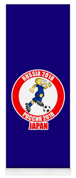 Japan In The Soccer World Cup Russia 2018 Yoga Mat
