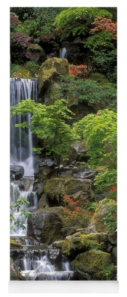 Japanese Garden Waterfall Yoga Mat