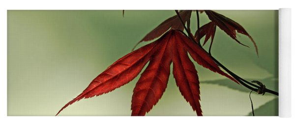 Japanese Maple Leaf Yoga Mat