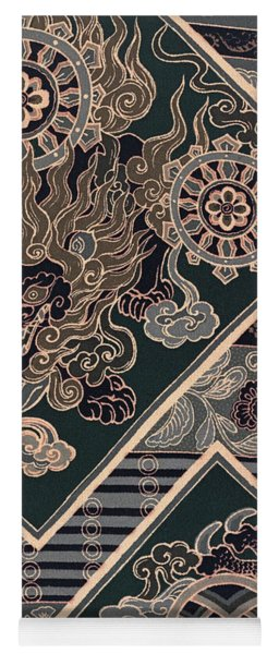 Japanese Style Lion And Dragon Modern Interior Art Painting. Yoga Mat