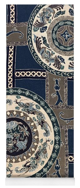 Japanese Style Phoenix And Dragon Modern Interior Art Painting. Yoga Mat