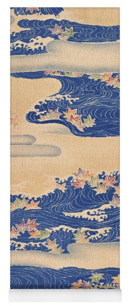 Japanese Style River And Cloud Modern Interior Art Painting. Yoga Mat