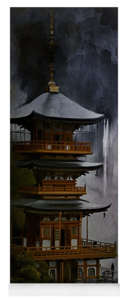 Japanese Temple. Yoga Mat