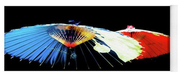Japanese Umbrellas Assorted Colors Yoga Mat