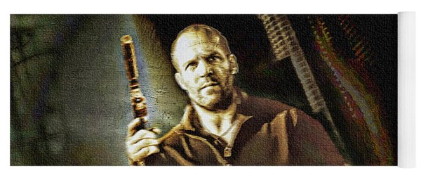 Jason Statham - Actor Painting Yoga Mat