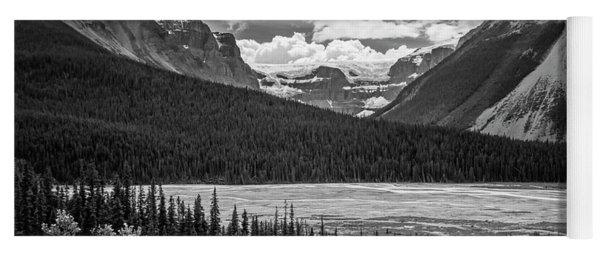Jasper National Park Alberta Canada Bw Yoga Mat